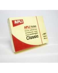 STICK NOTE APLI NOTES CLASSIC 75X50 REF10971 JAUNE