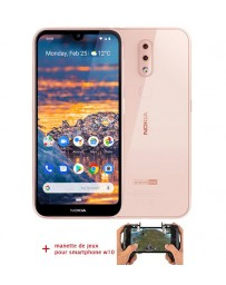 Nokia 4.2 32 Go - Rose + MANETTE GAME CONTROLLER W10