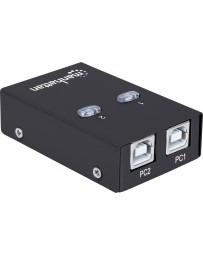 COMMUTATEUR DE PARTAGE 162005 USB 2.0 2PC MANHATTAN