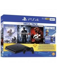 Playstation 4 Slim 500 Go + Horizon Dawn + Uncharted 4 + Gran Tourismo + Fortnite