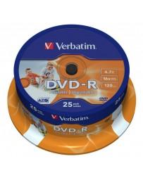 DVD-R IMPRIMABLE VERBATIM PAQ DE 25 REF043538