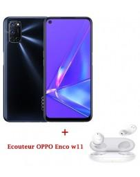 OPPO A92 128Go - Noir + Écouteurs OPPO Enco W11