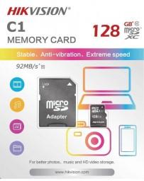 CARTE MEMOIRE SD HIKVISION 128GB + ADAPTATEUR