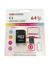 CARTE MEMOIRE SD HIKVISION 64GB + ADAPTATEUR
