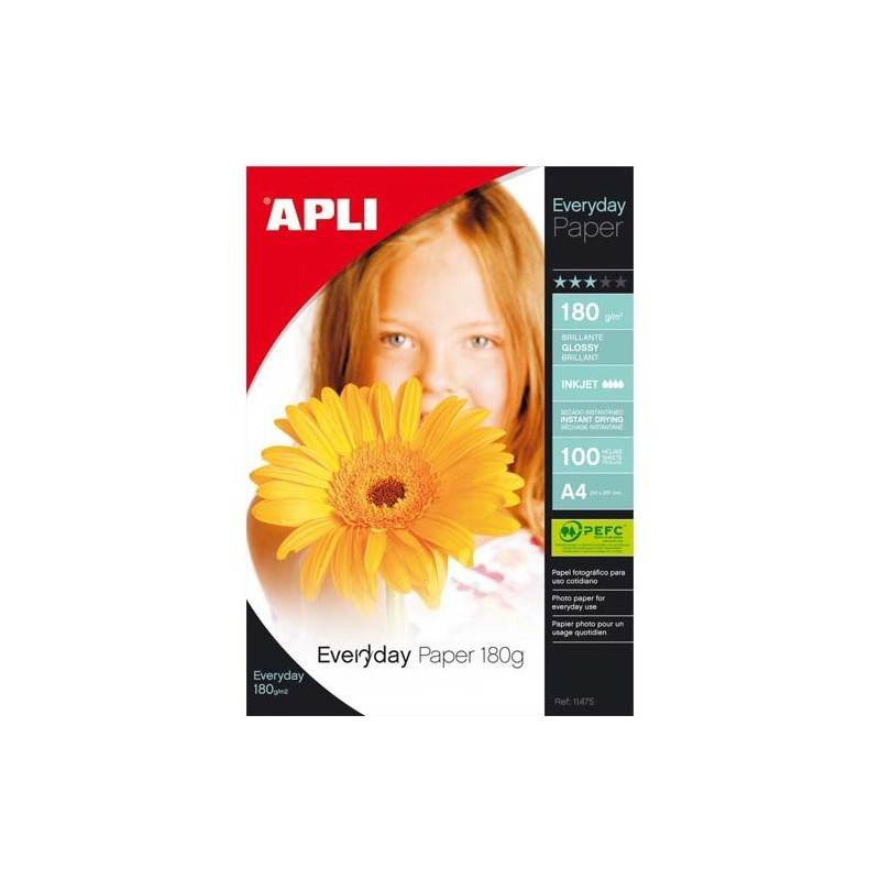 PAPIER PHOTO Brillant EVERDAY A4 180G
