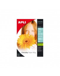 PAPIER PHOTO APLI Brillant EVERDAY A4 180G 100PCS 11475