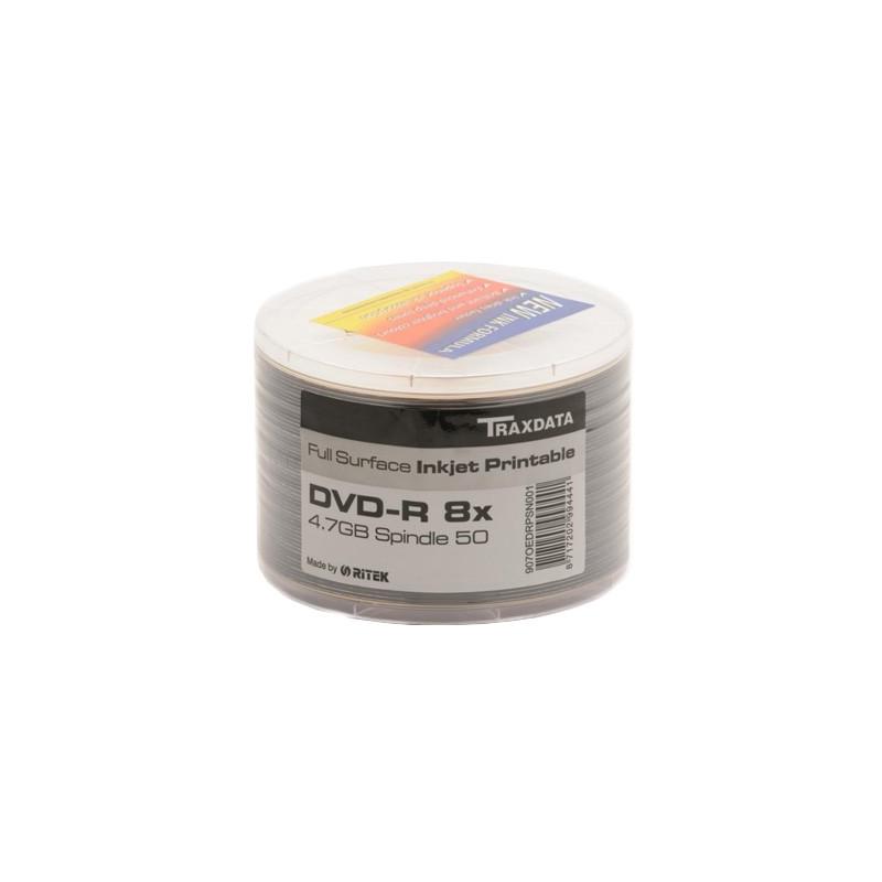 Traxdata Bobine 50x DVD+R 4.7 GB IMPRIMABLE 8X