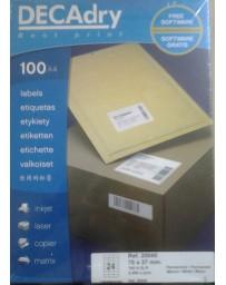 ETIQUETTE SINEL DECADRY R.20045 70X37 100 A4/24