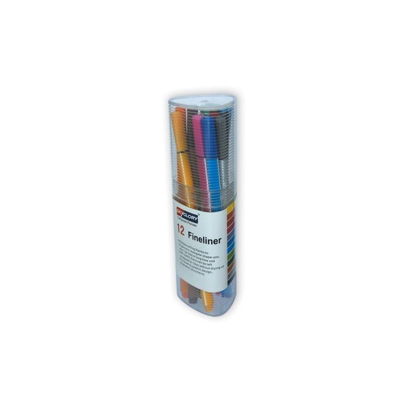 Pochette 12 Stylo SKYGLORY Fineliner couleur 0.4mm