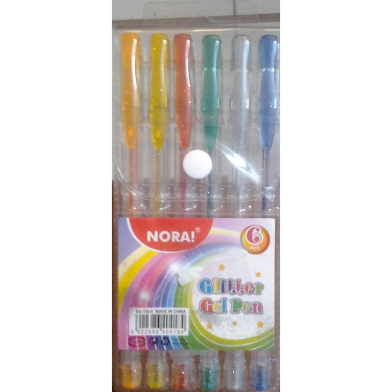 Stylo Glitter Gel Pen 6PCS