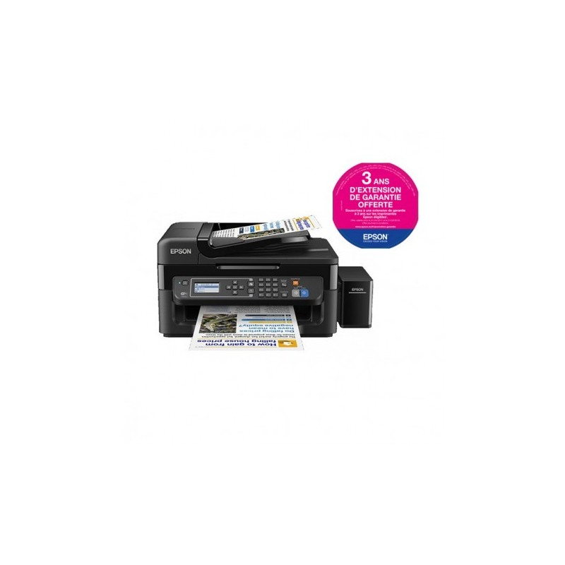 Imprimante Multifonction couleur 4en1 à réservoir intégré Epson L565 + 2 bouteilles Noires / Garantie 3 ans