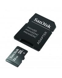 Carte Mémoire Micro SDHC 32G SANDISK + Adaptateur
