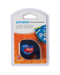 Ruban DYMO Plastique 91203 Noir sur Rouge 12mm x 4m