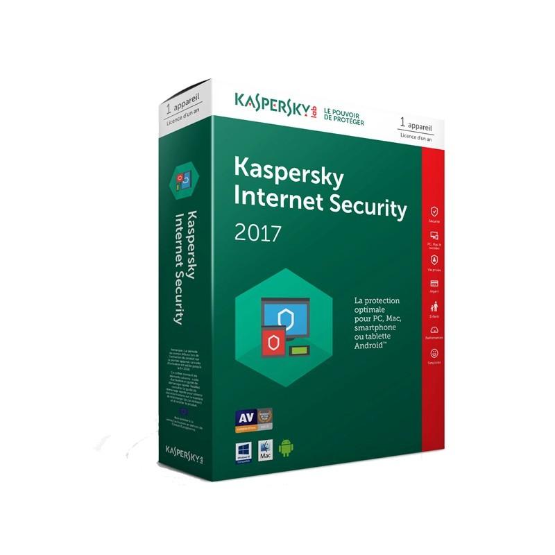 Anti-Virus Kaspersky Internet Security 2017- Licence 1 an