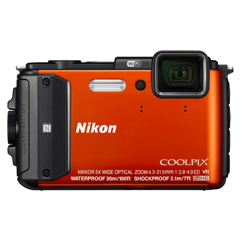 Appareil Photo Nikon Coolpix AW130 Orange