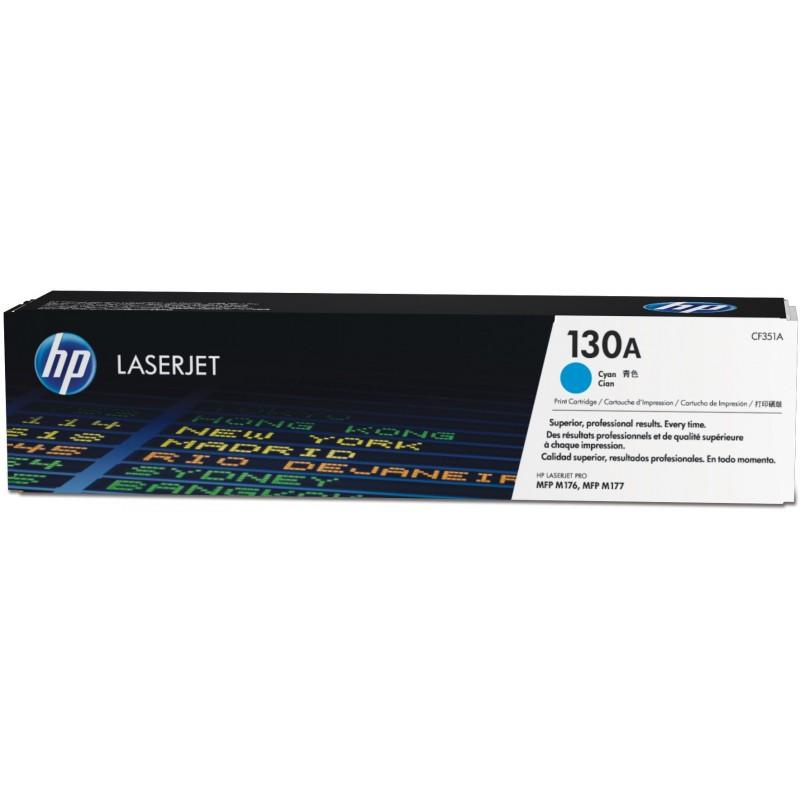 Toner HP LaserJet 130A Cartouche De Toner Cyan D'origine (CF351A)