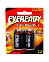 PILE EVEREADY 1235 BP2 SHD R14 1.5V
