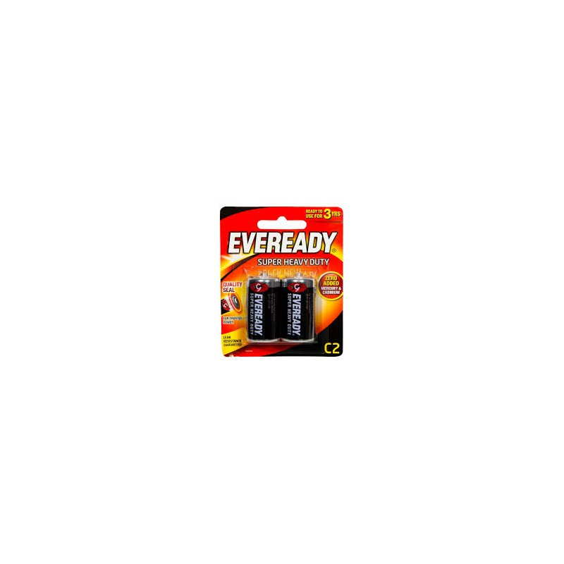 Piles Eveready Super Heavy Duty Batteries C2 2 Pack