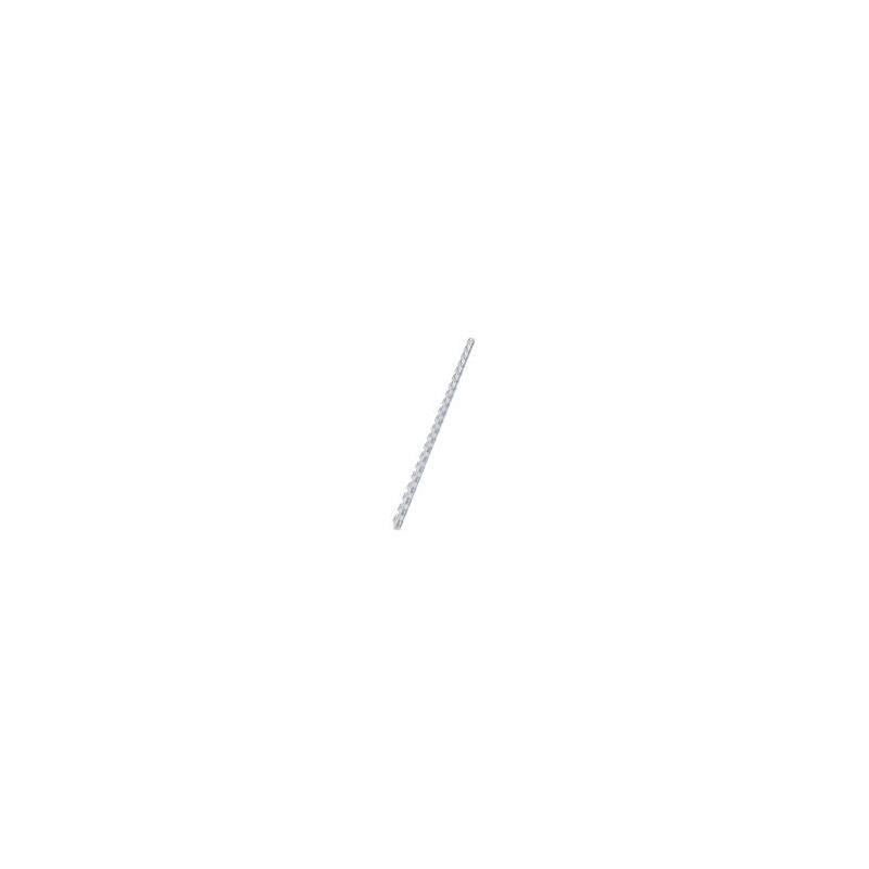 100 Reliures Spirale Plastique 6mm Blanc