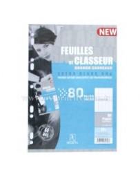 FEUILLES DE CLASSEUR PERFOREES 80P 80G SELECTA