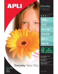 PAPIER PHOTO APLI Brillant EVERDAY A4 180G 20 FEUILLES