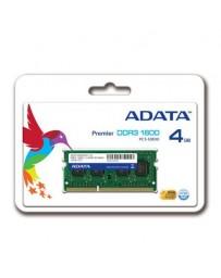 Barrette Mémoire ADATA 4Go DDR3 1600MHz SODIM