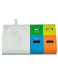 USB FAMILY CHARGER HILINE H-USBPS4F 5V 4A