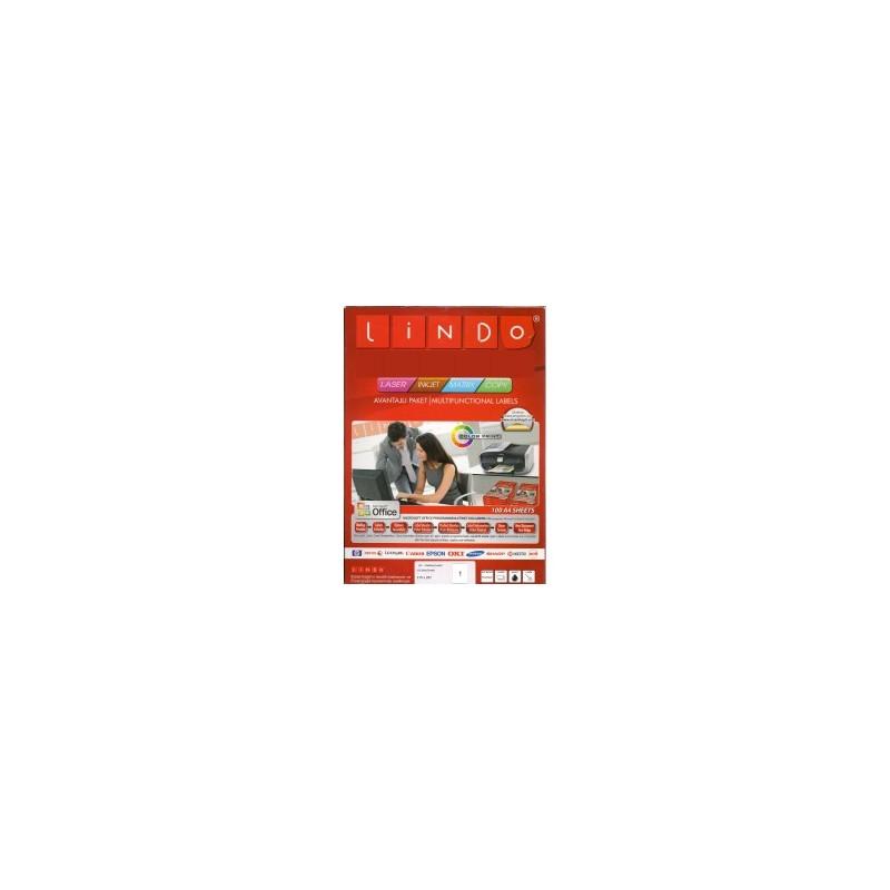 ETIQUETTE LINDO PAQ DE 100 A4 210x297 LD2000-2