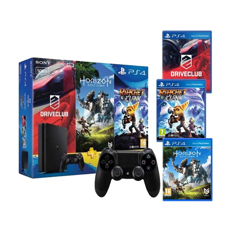PACK PLAYSTATION 45 PS4 500G 2016A+3 JEUX +MANETTE DE JEUX