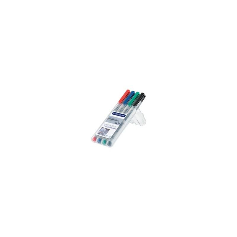 ETUI STAEDLER BOX 4 COULEUR NON PERMANENT M 1MM 315-WP4