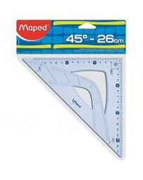EQUERRE 45 26CM GRAPHIC MAPED 242426