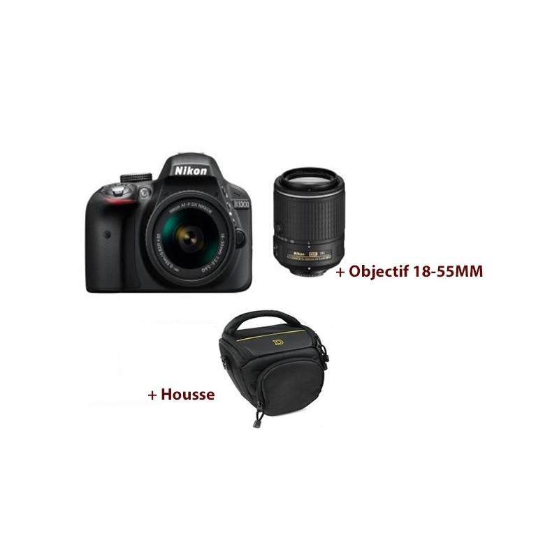 éflex Numérique Nikon D3300 + Objectif Nikkor 18-55mm
