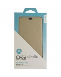 FLIP COVER TEEL MOTO C PLUS GOLD