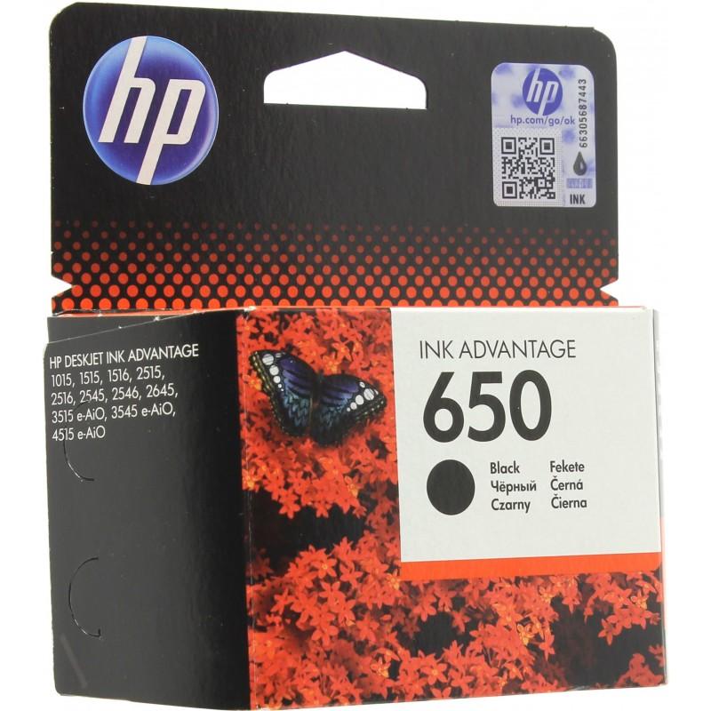 Cartouche Noir HP 650