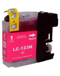CARTOUCHE BROTHER ADAPTABLE LC123 MAGENTA PRINT PRO