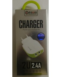 CHARGEUR POWER YOUR MOBILE LIFE HUT-2 2U 2.4A
