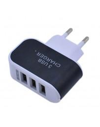 TETE CHARGEUR 3 USB COULEUR