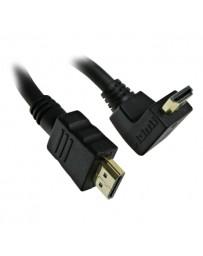 CABLE HDMI 3 M NOIR FORME L
