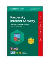 Antivirus KASPERSKY INTERNET SECURITY 2018 - 1 AN / 3 PC