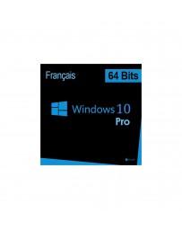 WINDOWS PRO 10 64 BITS 1PK FRANÇAIS DSP OEI DVD (FQC-08920)