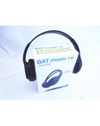 MICRO CASQUE BAT MUSIC MODEL 5800 HEADSET MP3 PLAYER FM