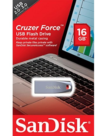 FLASH DISQUE CRUZER FORCE 16GB SANDISK SDC271-016G-B35