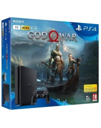 PLAYSTATION PS4 SONY SLIM 1T + JEUX GOD OF WAR