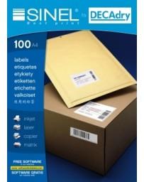 ETIQUETTE SINEL DECRAY R.20177 105X148.1MM BT/100 A4/4