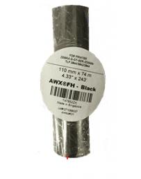 WAX NOIR AWR8 BLACK 110MM*74M