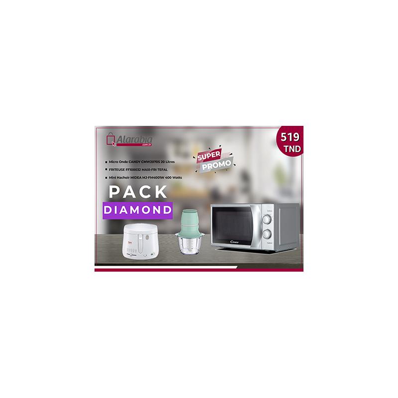 Pack Micro onde Candy + Friteuse Tefal + Mini Hachoir Midea