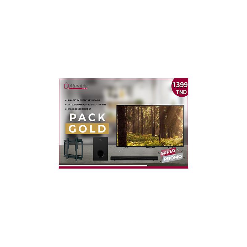 "Pack TV TELEFUNKEN 43"" E20 SMART + Barre de son TCL + Support TV Fixe 14""-42"""
