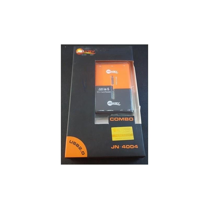 HUB USB 3 PORT JEWAY ALL IN ONE JN-4004