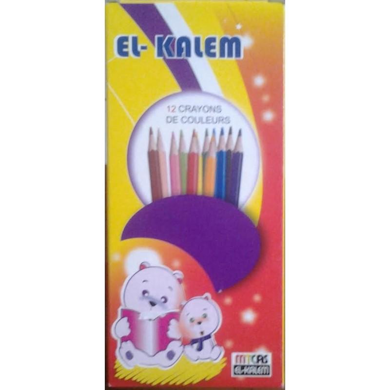 Crayon de Couleur EL Kalem 12 Couleurs