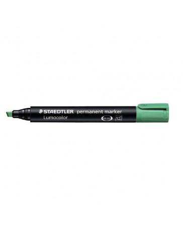 Marqueur permanent pointe biseautée STAEDTLER Lumocolor / Vert